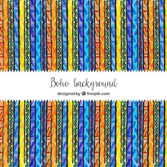 Background of colorful stripes with ethnic drawings