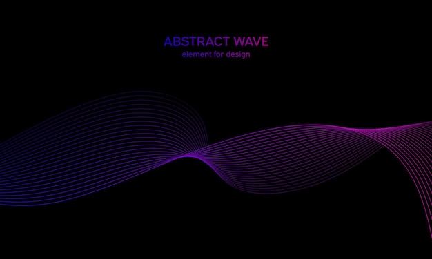 Background colorful wave