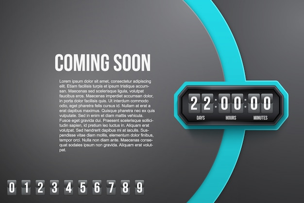 Background coming soon and countdown timer.