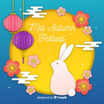 Background concept for mid autumn festival