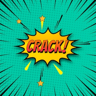 Background of crack in comic style pop art colorful vector