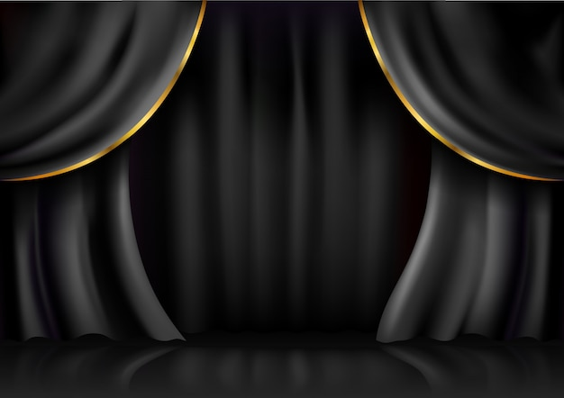 Background  curtain stage
