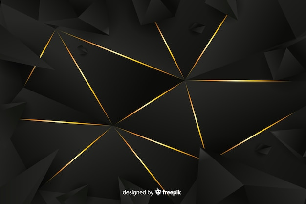 Background dark polygonal luxury