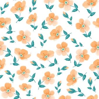 Фон украшены оранжевыми цветами