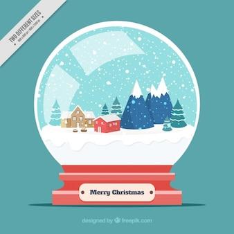 Background of decorative snowglobe