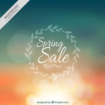 Background defocused bokeh of spring sales