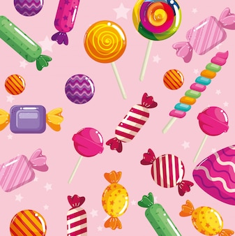 Background of delicious candies