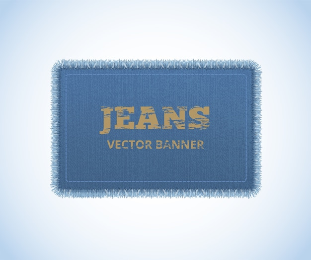 Background of denim texture. jeans realistic banner.
