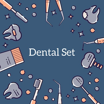 Background of dentist and teeth