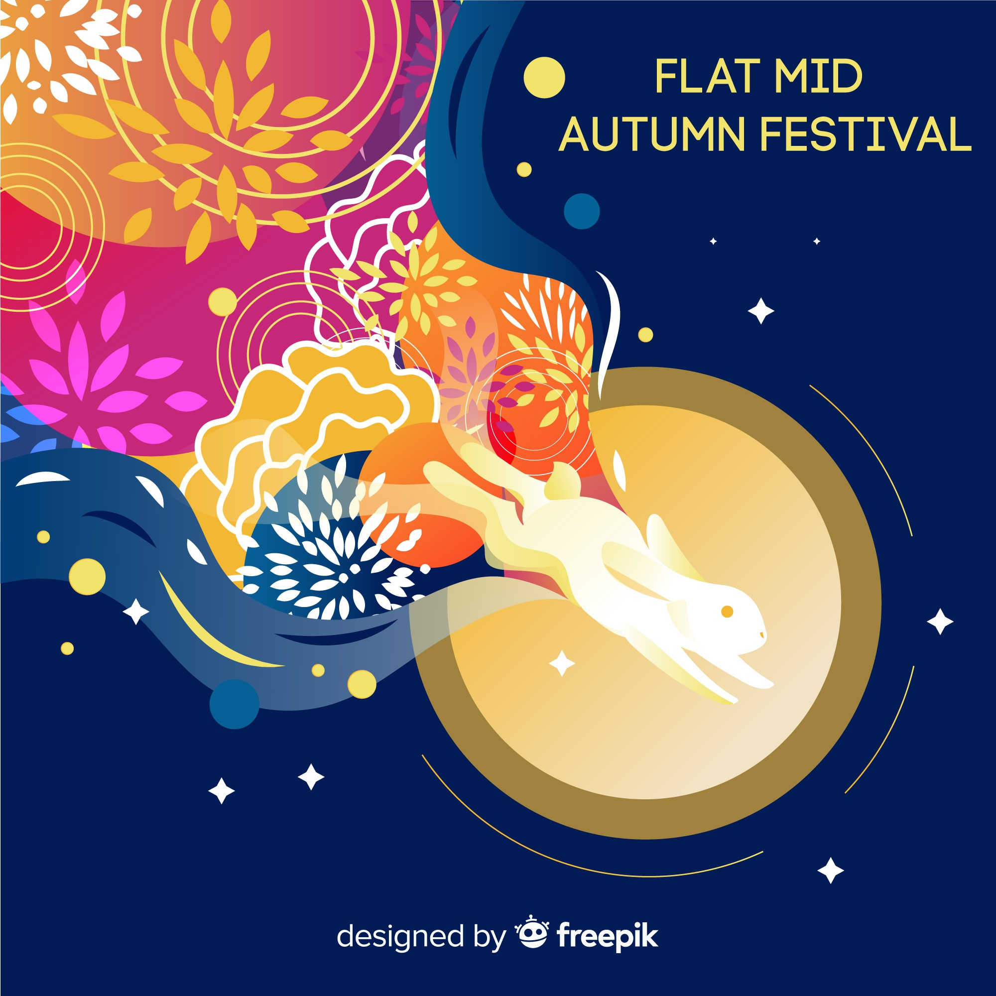 Background design for mid autumn festival