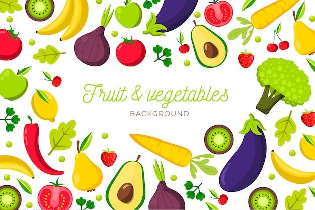Фоновый дизайн фруктов и овощей