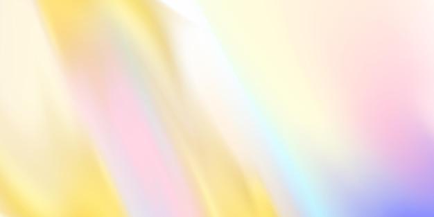 Background design in golden abstract horizontal pastel hologram