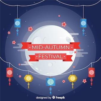 Background design for mid autumn festival