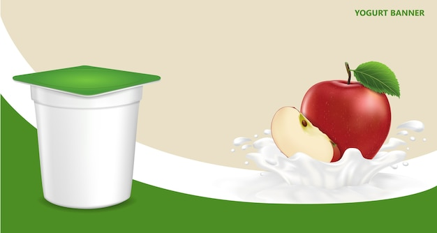 Background for design of packing yogurt