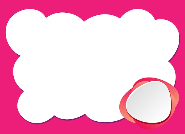 ピンクのフレームの背景デザインテンプレート