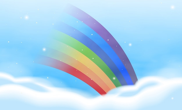 Background design with colorful rainbow