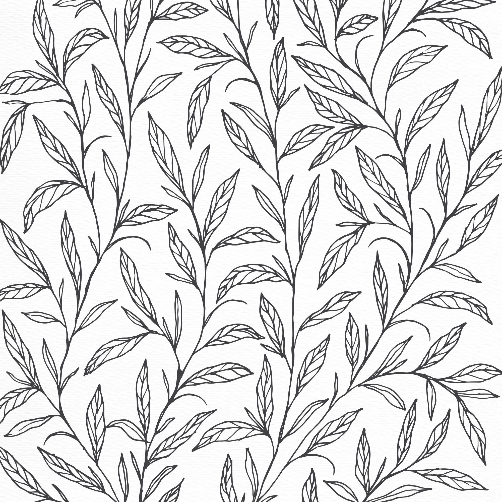Background design with hand drawn botanical illustration
