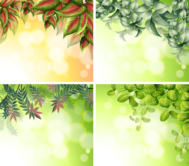 Background design with nature theme