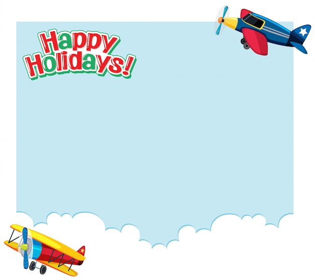 Background design with planes flying in sky. holidays concept