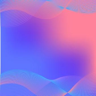 파란색과 분홍색의 물결 선으로 배경 디자인