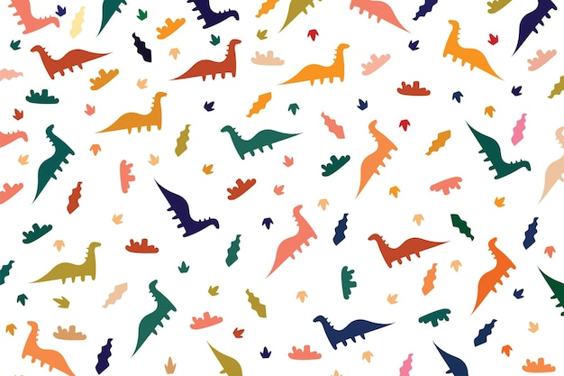 Background dino color patterned template