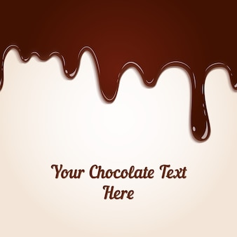 Background of dripping melted rich brown milk chocolate