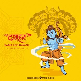 Background for dussehra festival