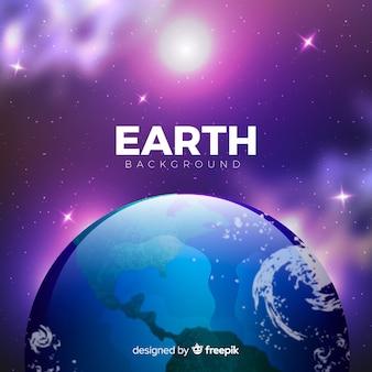 Sfondo della terra nell'universo