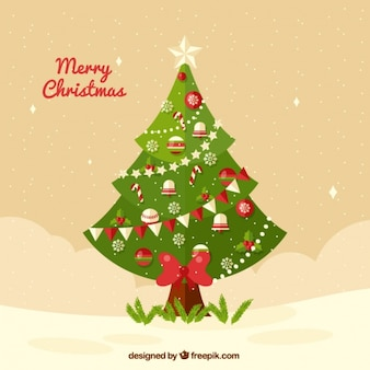 Background of elegant christmas tree