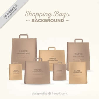 Background of elegant paper bags