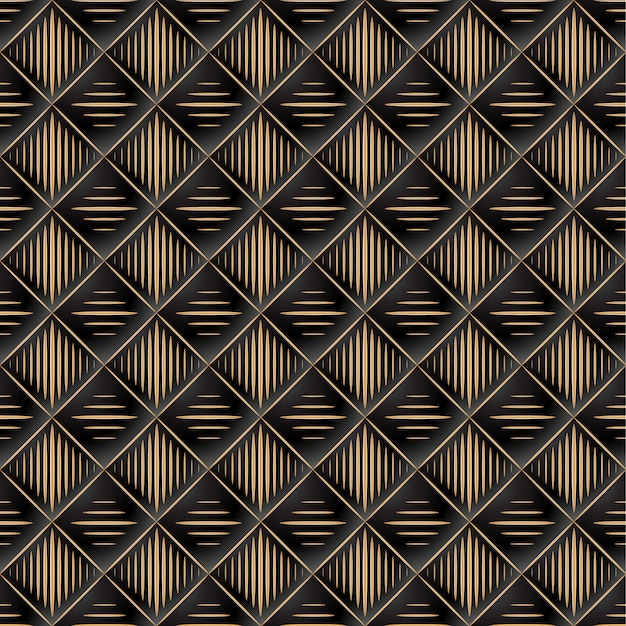 Background of elegant quilted pattern vip black and gold
