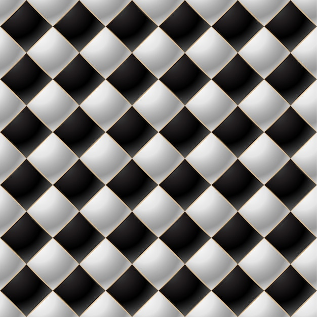 Background of elegant quilted pattern vip black and white