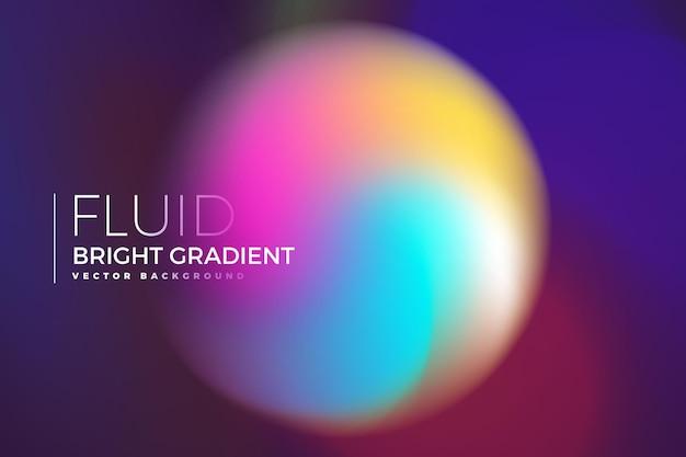 Фон элемент дизайна концепции голографической жидкости яркий градиент