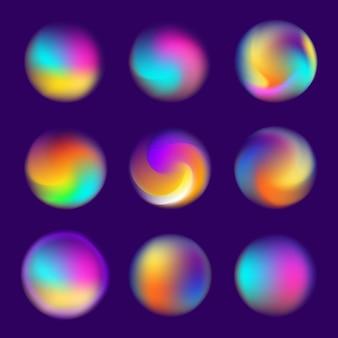 背景要素のデザインコンセプトホログラフィック流体明るいグラデーション