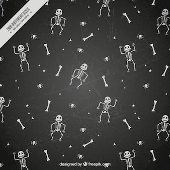Background of enjoyable bones and skeletons