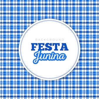 Background festa junina plaid blue