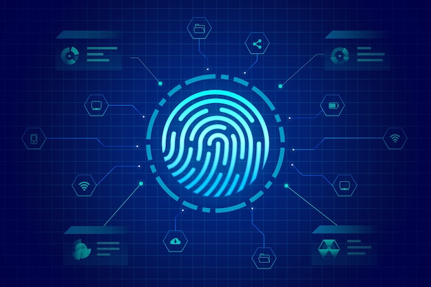 Background fingerprint neon