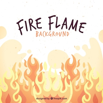 Background of fire flames