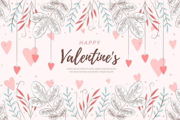 Background flat valentine's day