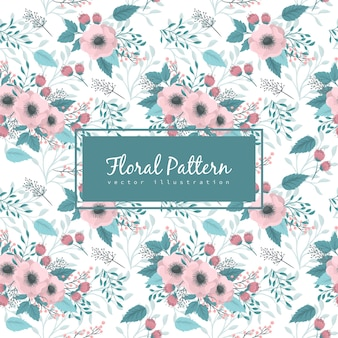 Background floral seamless pattern