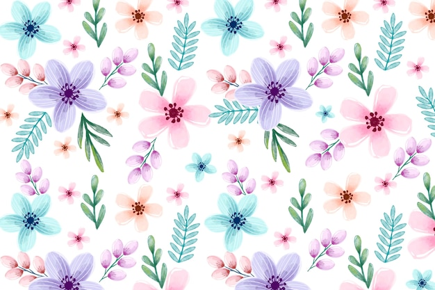 Background floral watercolor with soft colors