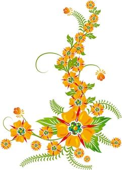 背景の花、デザイン、イラストの要素