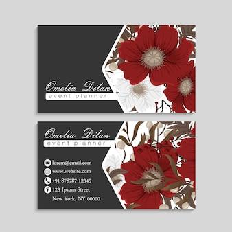 Background flower - red, light blue, white flowers wreath
