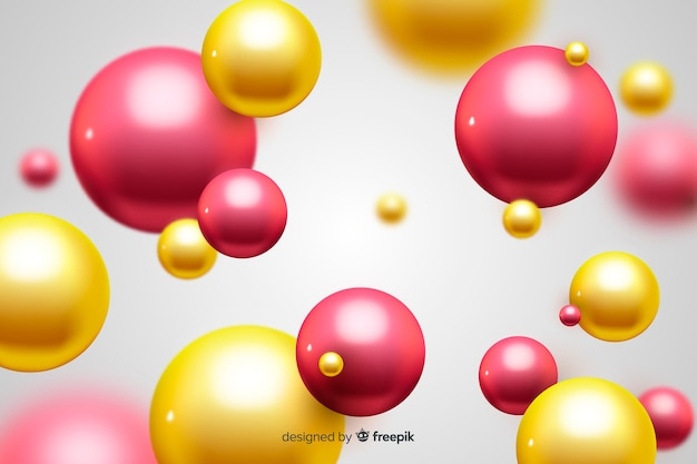 Background flowing glossy spheres