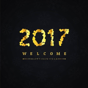 Background for 2017 with golden dots