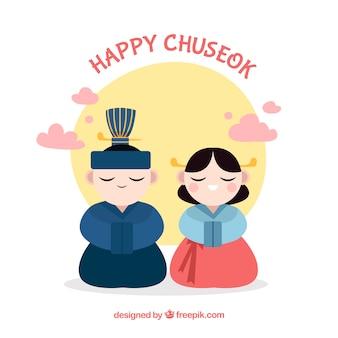 Background for chuseok festival