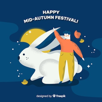 Background for mid autumn festival