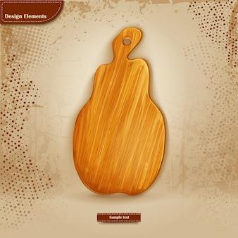 Фон для текста с деревянной разделочной доской