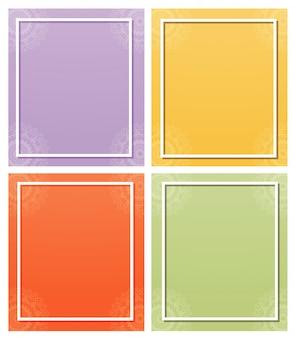 Background frame with mandala design