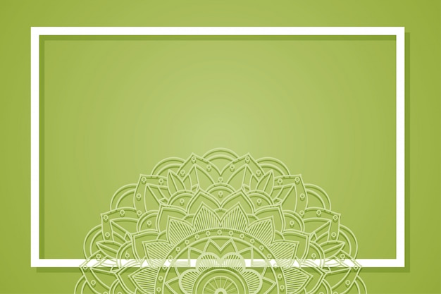 Background frame with mandala design